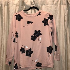 Ann Taylor pink shirt with flower